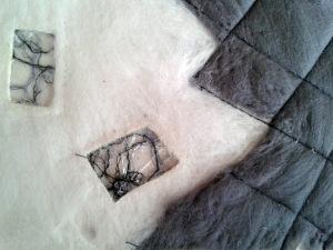 """Dizzy"" Embroidery Reverse Appliquéd  With Sewn Felting"