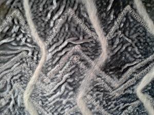 Elastic Sewn Velvet With Felting