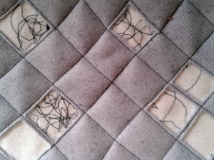 Reversed Appliquéd And Quilted Squares